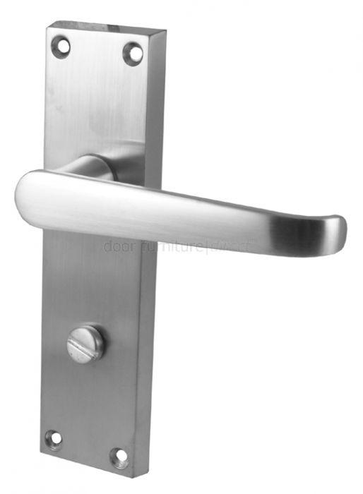 Satin Chrome Bathroom Door Handles