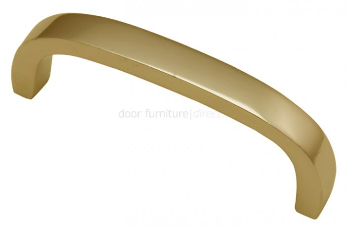 Polished Brass D Shaped Door Pull Handle 97mm