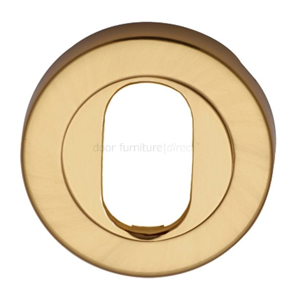 Polished Brass Round Oval Profile Escutcheon 53mm