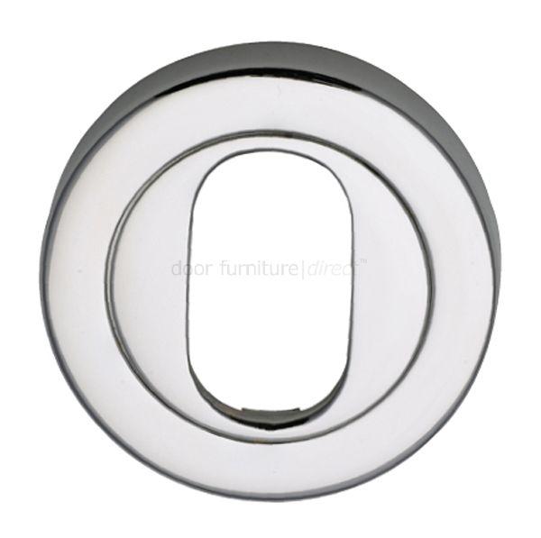 Polished Chrome Round Oval Profile Escutcheon 53mm