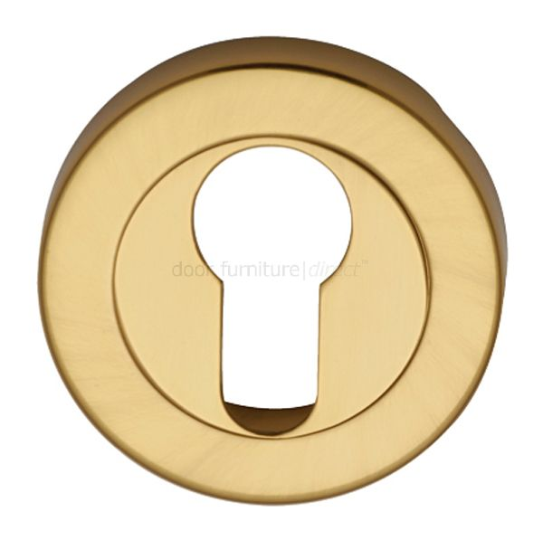 Polished Brass Round Euro Profile Escutcheon 53mm