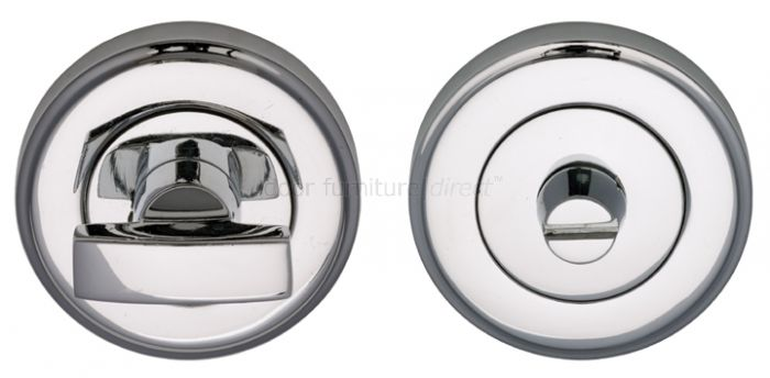 Polished Chrome Thumb Turn and Emergency Release 50mm
