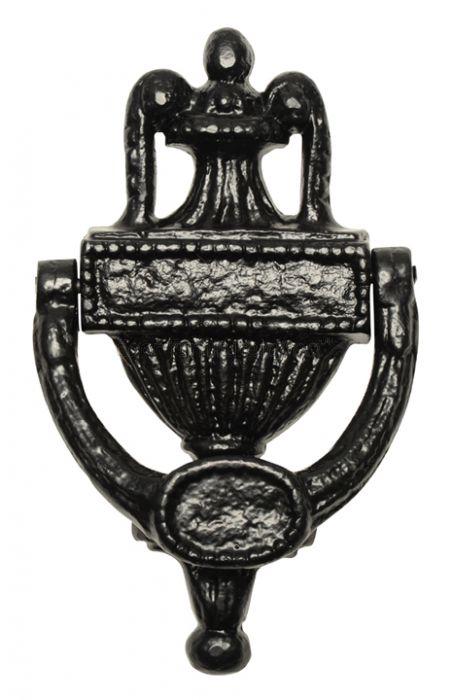 Black Antique Iron Urn Front Door Knocker 578