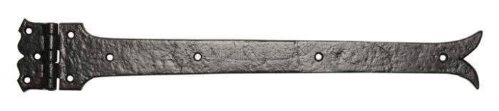 Black Antique Iron 645 Plain Strap Hinges 457x101mm In Prs