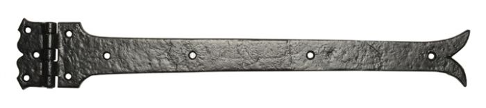 Black Antique Iron 645 Plain Strap Hinges 609x101mm In Prs