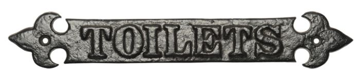 Black Antique Iron House Name Plate 406x63mm 766