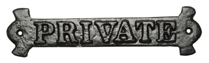 Black Antique Iron House Name Plate 457x76mm 767