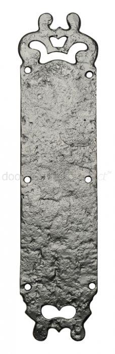 Black Antique Iron Fancy Door Push Plate 304x73mm 771