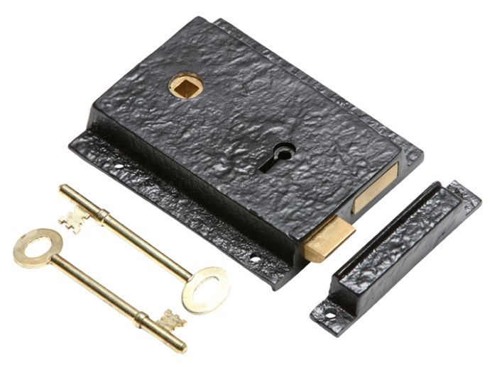 Antique Rim Lock Set Left Hand 1204