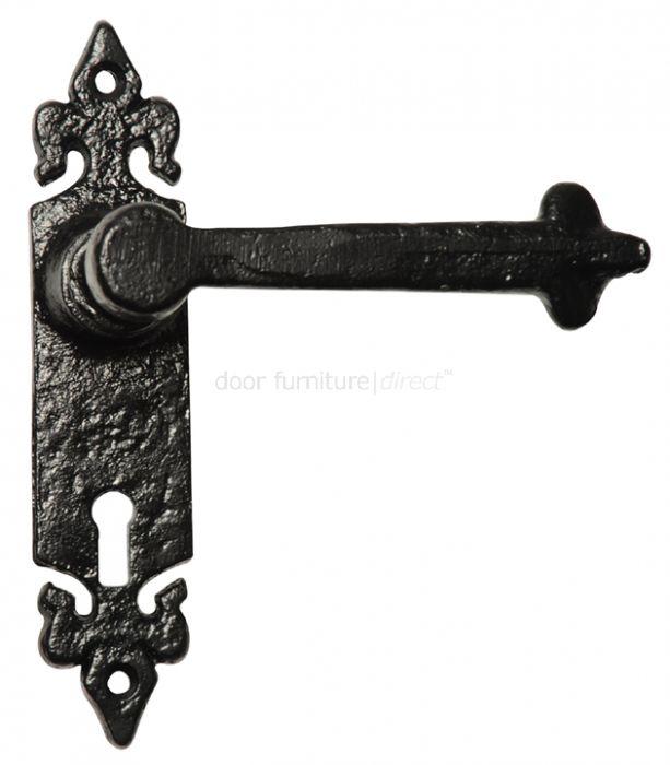 Antique Lever Lock Door Handles 177x38mm 2496