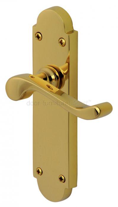 PVD None Tarnish Brass Savoy Latch Door Handles