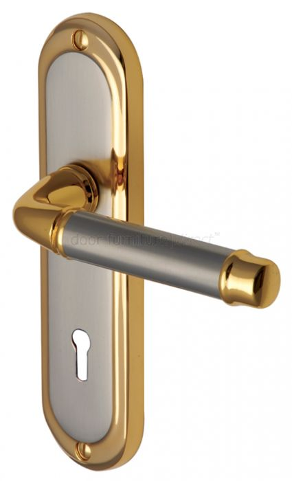 Saturn Straight Lever Dual Finish Keyhole Door Handles