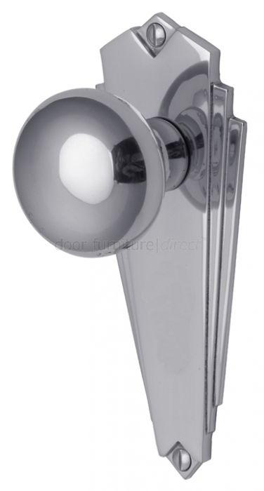 Chrome Door Knobs >> Broadway Polished Chrome Door Knob On Latch Plate Set