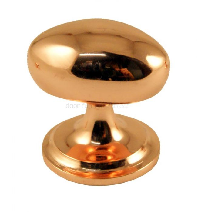 Rose Copper Oval Cupboard Knob 32mm