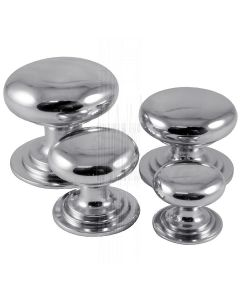 Polished Chrome Victorian Style Cabinet Knobs