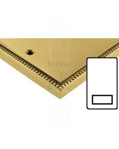 Heritage Contractor Range A985BN Adam Brass Shaver Socket