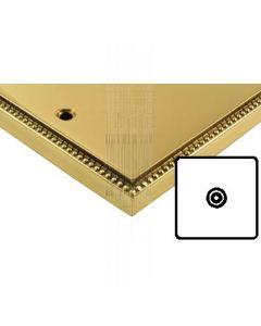 Heritage Contractor Range A923BN Adam Brass Isolated TV Coax Socket