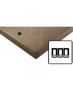 Heritage Contractor Range BZV993BN Victorian Bronze 3 Gang 2 Way Switch