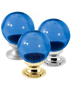 Blue Glass Ball Cupboard Knob