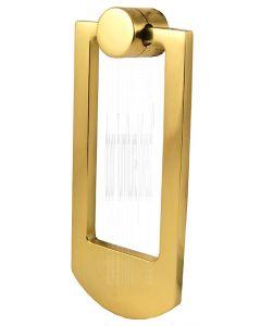 Polished Brass Contemporary Door Knocker 68x159mm