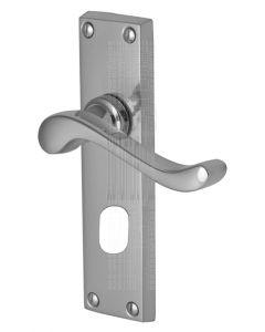 Bedford Scroll Lever Polished Chrome Oval Cylinder Door Handles