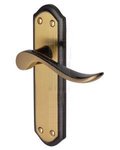 Sandown Curved Lever Brass and Bronze Latch Door Handles