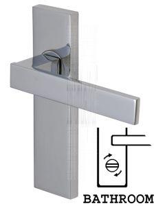 Delta Straight Lever Polished Chrome Bathroom Lock Door Handles