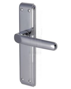 Deco Straight Lever Polished Chrome Latch Door Handles