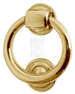 Brass Ring Door Knocker 105mm