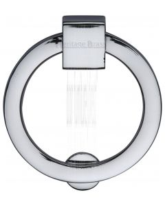 Heritage Polished Chrome Round Cabinet Pull 50mm