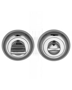 Polished Chrome Curved Thumb Turn and Emergency Release 48mm
