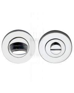 Polished Chrome Contemporary Thumb Turn and Emergency Release 53mm
