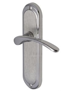 Ambassador Curved Lever Dual Finish Chrome Latch Door Handles