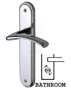 Tosca Polished Chrome Curved Lever Bathroom Door Handles