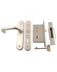 RADAR Lockset Polished Anodised Aluminium