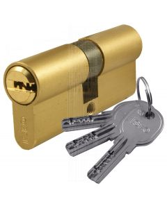 R6 6 Pin Brass Double Key Euro Cylinder 30x30mm to 30x75mm