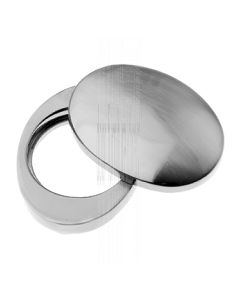 Pewter Finish Cover For Rim Cylinder