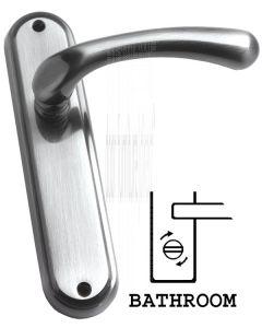 Pewter Finish Itala Bathroom Door Handles