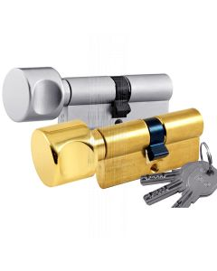 R6 6 Pin Key and Drum Turn Euro Cylinder 30x30mm to 40x50mm