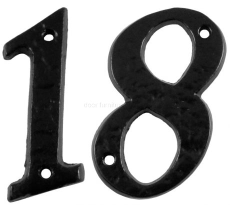 Black Antique Iron 75mm Numbers 0 to 9 1979
