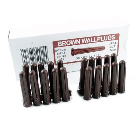 Box of 100 Brown Wall Plugs