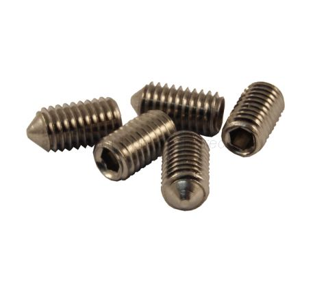M6 Grub Screws Cone Point in Pack of 5