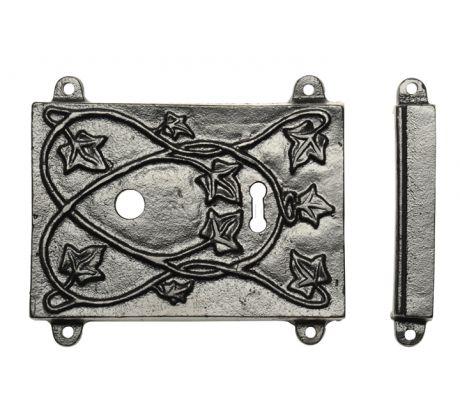 Rawnsley Black Iron Rim Door Lock and Knobs RLC451C