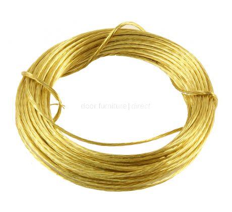 3.5m Coil Brass Picture Wire
