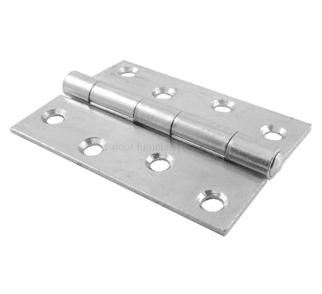 Strong Butt Hinge Zinc Plated 4in (100mm) In Pairs