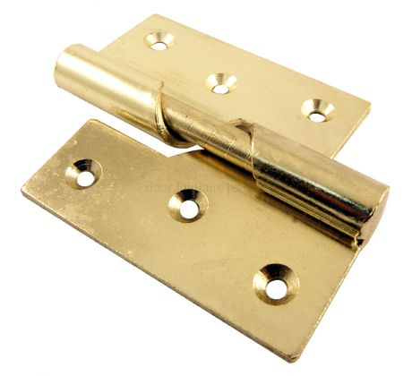 Rising Butt Hinge Electro Brass Plated Left Hand 3in (76mm) In Pairs
