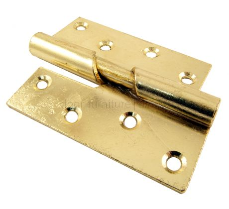 Rising Butt Hinge Electro Brass Plated Left Hand 4in (100mm) In Pairs