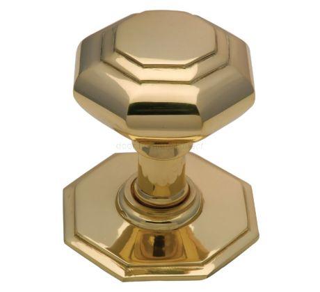 Polished Brass Octagonal Front Door Knob 3in (76mm)