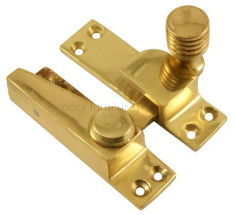 Polished Brass Hook Plate Sash Window Fastener