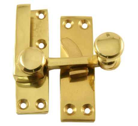 Polished Brass Sash Window Fastener 70x19mm